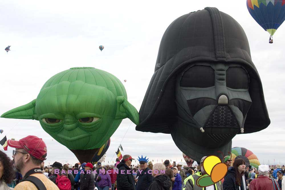 Darth and Yoda at the Albuquerque International Balloon Fiesta