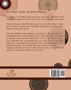 The List Junkies List Journal Back Cover