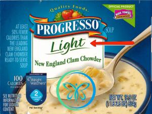 Front Food Label Light