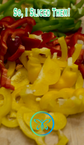Sliced Bell Peppers & Onions