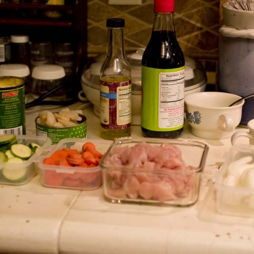 Mise En Place - Chicken Stir Fry