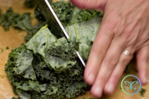 Braised Kale - Chopping Kale